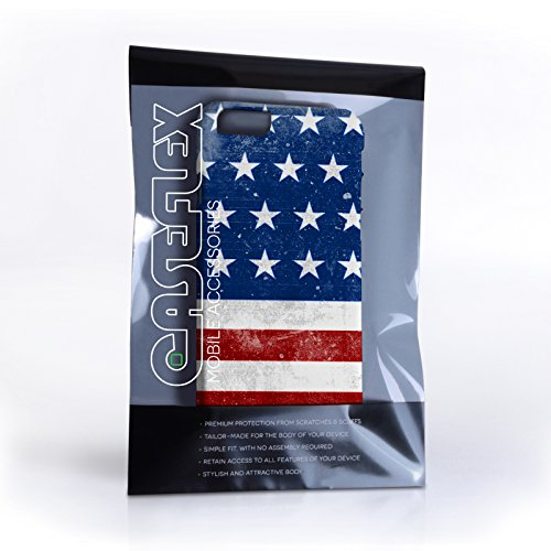Caseflex iPhone 6 / 6S Hülle Retro USA Flagge Hart Schutzhülle