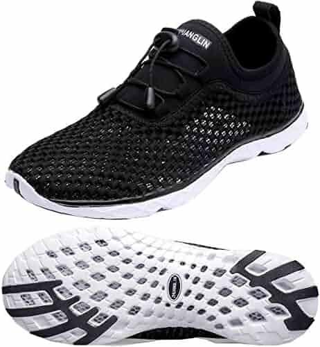 Zhuanglin Women's Quick Drying Aqua Water Shoes,Blackwhite,6 B(M) US