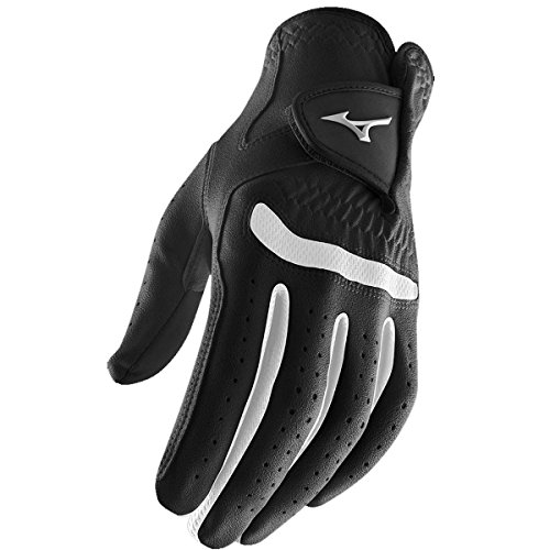 (**Pack of 1** Mizuno 2015 All Weather Comp Mens Golf Gloves Left Hand (Right Handed Golfer) Black/White XL)