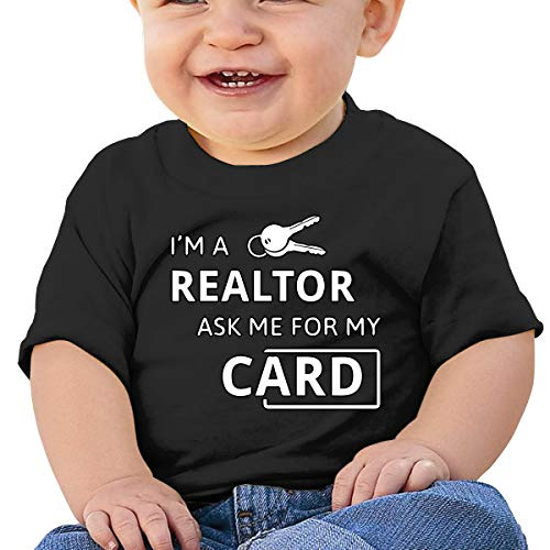 Lixue Real Estate Realtor I'm A Realtor Ask Me Baby Infant Crewneck Short Sleeve Tee Shirt