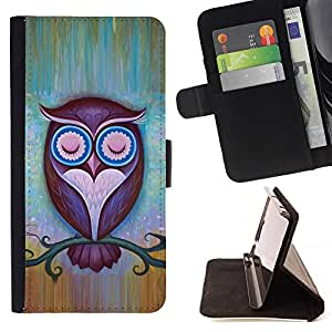 For Sony Xperia Z3 D6603 Night Teacher Stylish Pretty Beautiful Print Wallet Leather Case Cover With Credit Card Slots And Stand Function