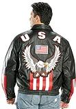 American USA Flag Eagle Bomber Jacket - X-Large