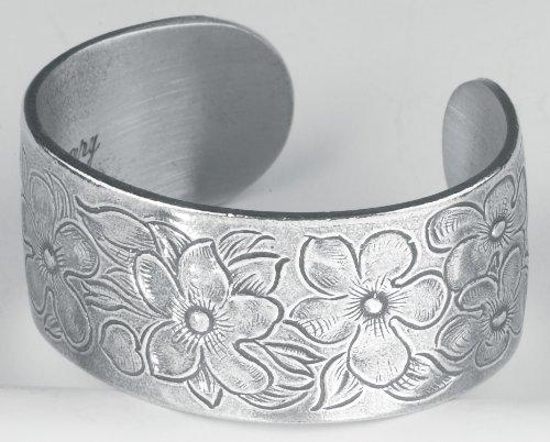Pewter Flower of the Month Bracelet - Feb Month Pewter Bracelet