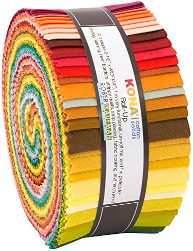 Elizabeth Hartman Kona Cotton Solids Berry Season Coordinates Roll Up 40 2.5-inch - Coordinate Fabric