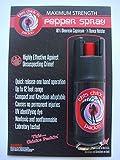 MAXIMUM/POLICE STRENGTH Pepper Spray in Hard Case. BLACK