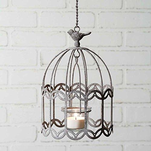 Rustic Metal Songbird Bird Cage Look Hanging Votive ()