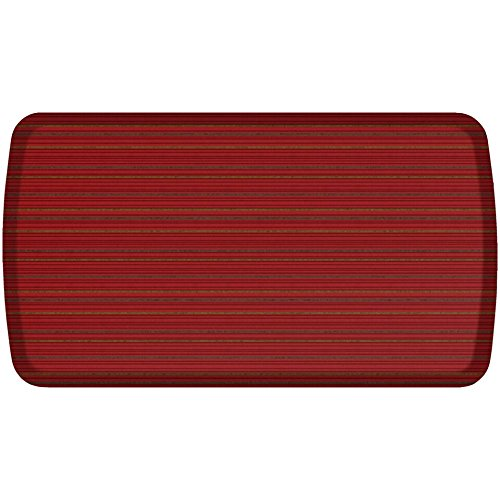 GelPro Elite Premier Anti-Fatigue Kitchen Comfort Floor Mat, 20x36'', Pinstripe Spiced Red Stain Resistant Surface with therapeutic gel and energy-return foam for health & wellness