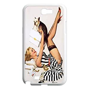Classic Sexy Pin up girl Poster Hard Plastic phone Case Cover For Samsung Galaxy Note 2 Case ZDI126343