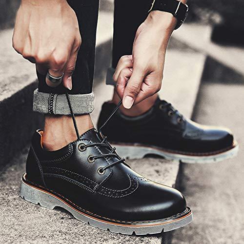 Calidad Retro De Derby Zapatos Black Casuales Hombre vwvHZTrqU