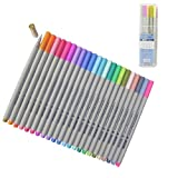 Lápiz Ancho de Línea de 0.3 mm 24 Colores Surtidos Juego de Lápiz de Dibujo Fineliner de Bosquejo