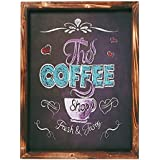 Placa Decorativa The Coffee Shop em MDF - 40x30 cm