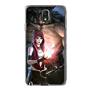 High Quality Phone Case For Samsung Galaxy Note 3 With Support Your Personal Customized Stylish Dragon Age Origins Morrigan Monster Pictures WandaDicks