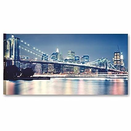 Quadri L&C ITALIA Quadro New York Panorama 3 da Parete 90x45 ...