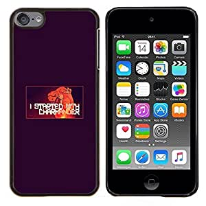 Qstar Arte & diseño plástico duro Fundas Cover Cubre Hard Case Cover para Apple iPod Touch 6 6th Touch6 (Charmander)