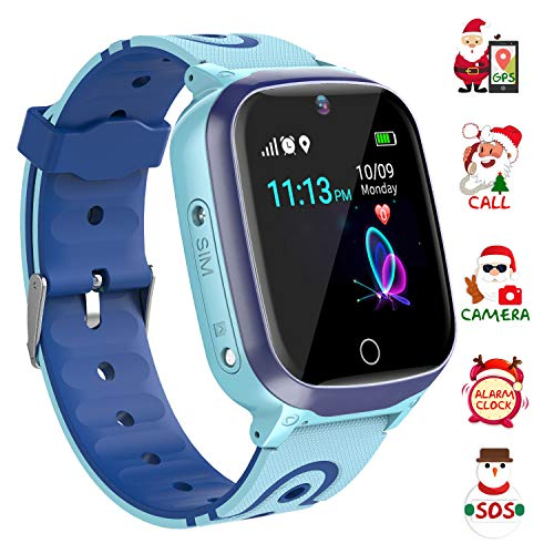 YENISEY Kids Smart Watch Waterproof for Boys Girls - WiFi+GPS Tracker Smartwatches IP67 Waterproof Fitness Tracker with SOS Camera Anti-Lost Games Touch Screen Electronic Toy Boy Girl