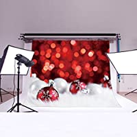 LB 7x5ft CHRISTMAS BALL Poly Fabric Photo Backdrops Customized Studio Background Studio Props SDJ60