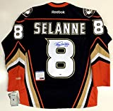 "Teemu Selanne Anaheim Ducks Signed Jersey With ""a"" In The Presence Coa - PSA/DNA Certified"
