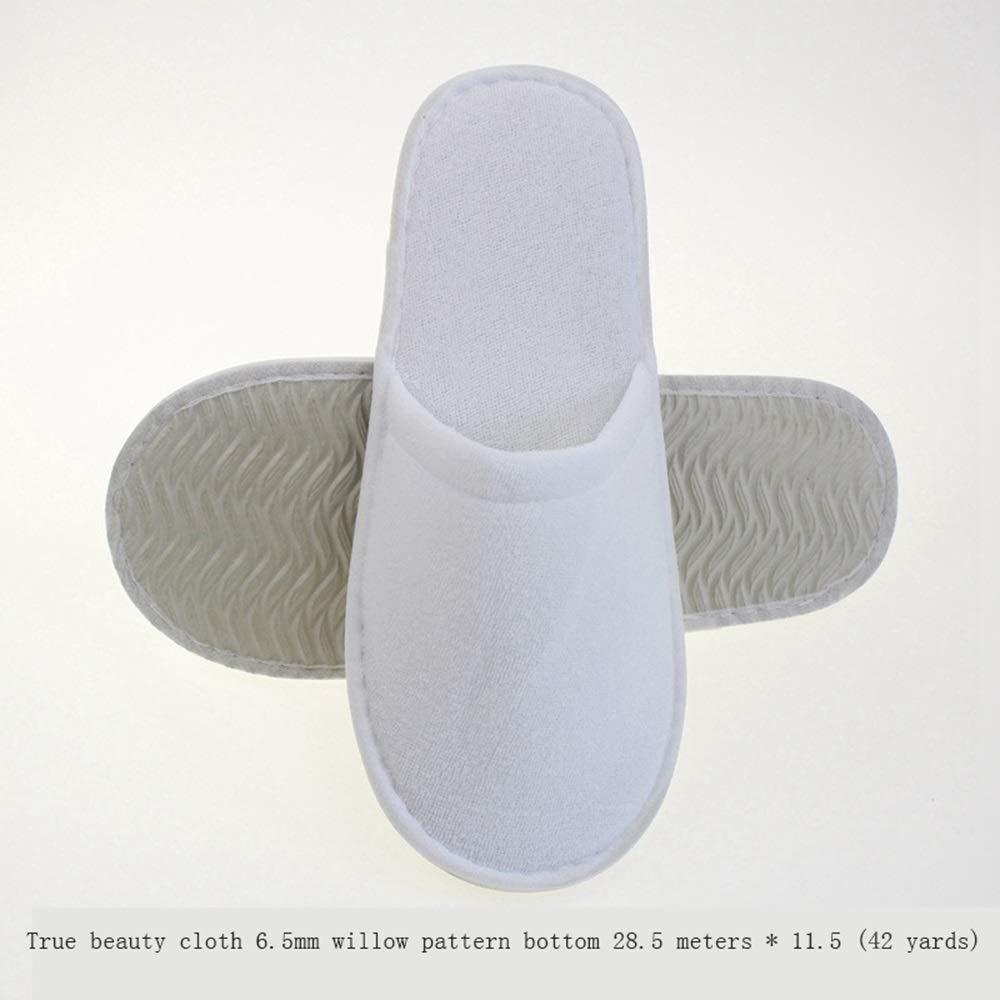 使い捨てスリッパスパスリッパ24/50/100ペアのトラベルバッグ付きクローズドトゥスリッパ - 厚く、柔らかい、滑り止めが付いている、ほとんどの男性と女性にフィット - 家庭、ホテル、または商業用途に最適 (版 ばん : 50 pairs) B07S8J8HPP  50 pairs
