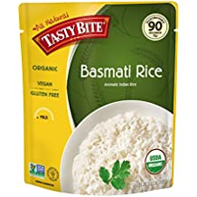 Tasty Bite Organic Basmati Rice 8.8 Ounce (Pack of 6), Indian-Style Organic Basmati Rice, Fully Cooked, Ready to Serve, Microwaveable, Vegan Gluten-Free No Preservatives