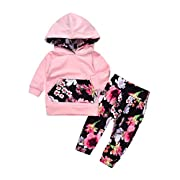 Memela Buy The Outfit 2PC Baby Girls Long Sleeve Clothing Set 0-24 Mos (12-18 Mos)