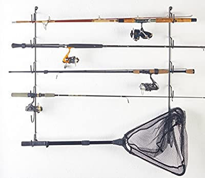 Wall Mounted Fishing Rod Rack