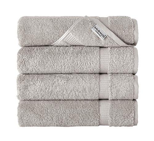 SALBAKOS Luxury Hotel & Spa Turkish Cotton 4-Piece Eco-Friendly Bath Towel Set 27 x 54 Inch, (Automatic 4 Piece Set)