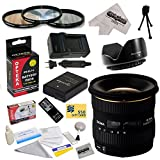 Sigma 10-20mm f/4-5.6 EX DC HSM Autofocus Lens For the Nikon D3100, D3200, D3300, D5100, D5200, D5300 - Includes 77MM 3 Piece Pro Filter Kit (UV, CPL, FLD) + Replacement Battery Pack for the Nikon EN-EL14 1800MAH + 1 Hour AC/DC Battery Charger + Wireless Shutter Release Remote Control + Deluxe Lens Cleaning Kit + LCD Screen Protectors + Mini Tripod + 47stphoto Microfiber Cloth + $50 Photo Print Gift Card!