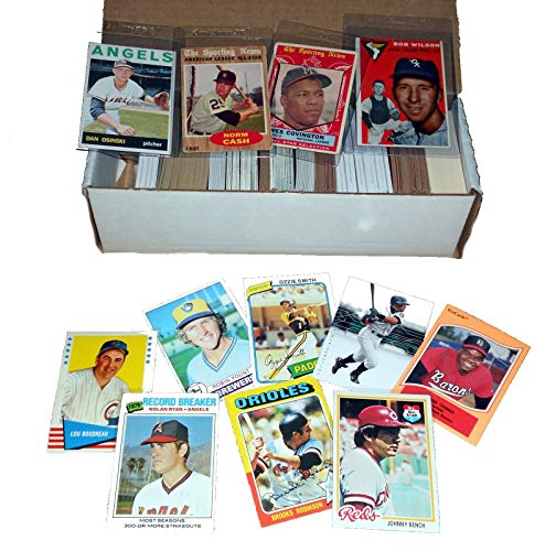 (Baseball Card Starter Set 500 Cards Incl. 1950s-60s-70s-80s Book Value of at least $75)