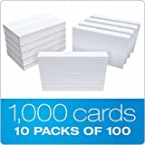 "Oxford 41 (1000 PK) Ruled Index Cards, 4"" x"