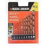 Black & Decker 15-110 High Speed Steel General Purpose Drill Bit Set, 10-Piece