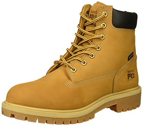 "Timberland PRO Women's Direct Attach 6"" Soft Toe Waterproof Industrial Boot, Wheat Nubuck Leather, 8.5 M US"