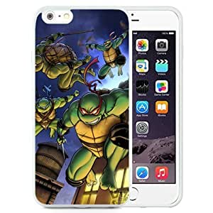 Easy Set,Customized Iphone 6 Plus Case Design with Teenage Mutant Ninja Turtles 1 Iphone 6 Plus PC 5.5 Inch White Cell Phone Case by icecream design