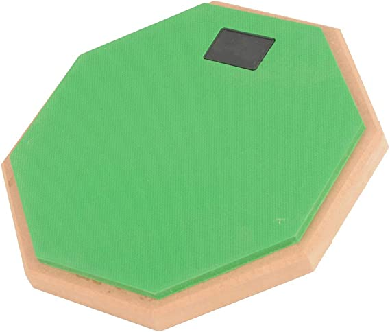 DishyKooker 8 Inch Rubber Wooden Dumb Drum Practice Training Drum Pad