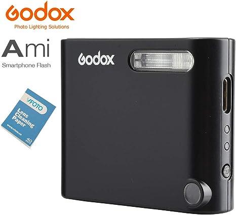 Godox A1 Mini Smartphone Flash LED Modelado Lámpara OLED Pantalla 2.4G Wireless X Sistema Soporte Teléfono APP Control Remoto Master Slave Funciones para iPhone 7/7 Plus/6S/6S Plus Teléfonos y cámaras Smartphone: Amazon.es: