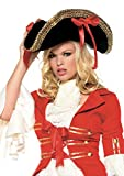 Leg Avenue Unisex - Adult Pirate Hat With Ribbons, Black, One Size