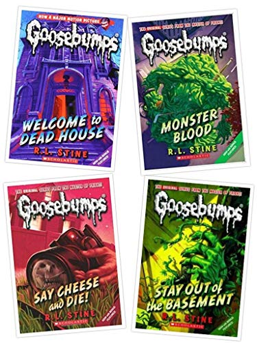 Goosebumps Boxed Set, Books 1 - 4:  Welcome to Dead House, Stay Out of the Basement, Monster Blood, and Say Cheese and -