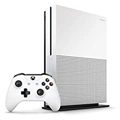 With the Microsoft Xbox One S 500GB Console, you get the best value in games and entertainment. It's 10 percent smaller than the Xbox One so it won't take up too much space in your home entertainment setup. High Dynamic Range With High Dynami...