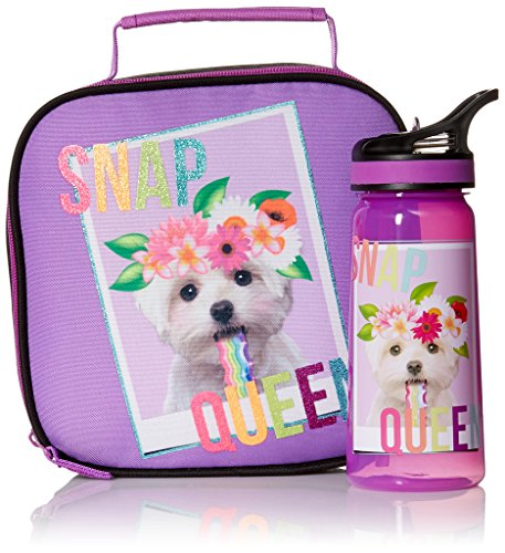 Price comparison product image The Children's Place Big Girls Backpack & Lunch Box Set,  NEON LILAC,  NO_SIZE