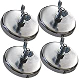 Vulcan Brands Heavy Duty Magnet For Wire Loop Flags (Pack of 4) - Great For Wide And Oversized Loads