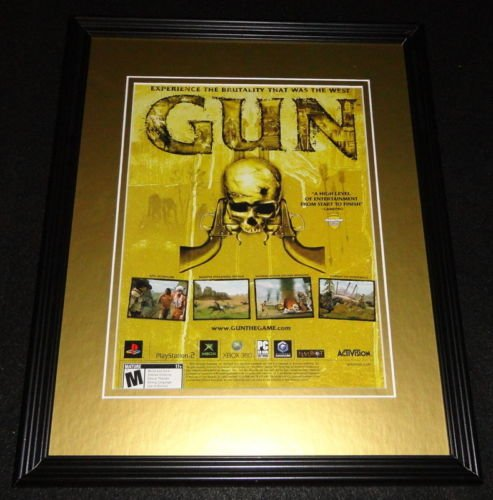 Gun The Game 2005 PS2 XBox 11x14 Framed - Ps2 2005
