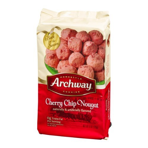 (Archway Cherry Chip Nougat Holiday Cookies Eight Pack)