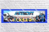 Personalized Tennessee Titans Banner - Includes Color Border Mat, With Your Name On It, Party Door Poster, Room Art Decoration - Customize