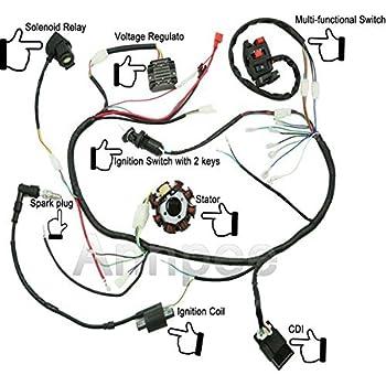 51afVrbD4SL._SL500_AC_SS350_ Qiye Atv Cc Wiring Harness on quad parts, mini dirt bike, pit bike, coolster atv, 200cc gear, 110cc motor, mini chopper, 4 wheeler parts, 150cc four wheeler,