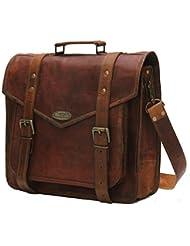 Handmade_world 15 Leather Messenger Bags For Men Women Mens Briefcase Laptop Computer Shoulder Satchel School...