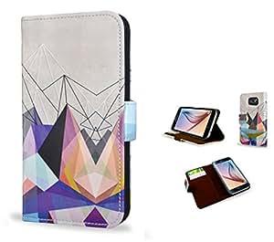 Create&Case Funda para Samsung Galaxy S6. 'Colourflash' PU Funda Cuero y Cubierta; Monedero Funda para con Interiores Slip compartimentos y para tarjetas.