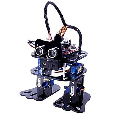 SunFounder DIY 4-DOF Robot Kit – Sloth Learning Kit Ultrasonic HC-SR04 Obstacle Avoidance Servofor Arduino Nano