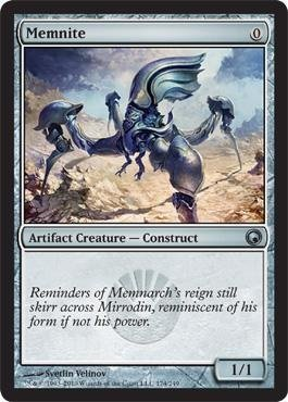 - Magic: the Gathering - Memnite - Scars of Mirrodin - Foil by Wizards of the Coast
