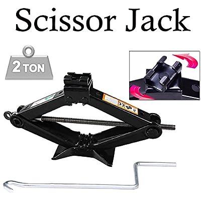 2 Ton Scissor Jack 90MM to 360MM Lift Wind Up For Car VAN Garage Home Emergency + Speed Handle