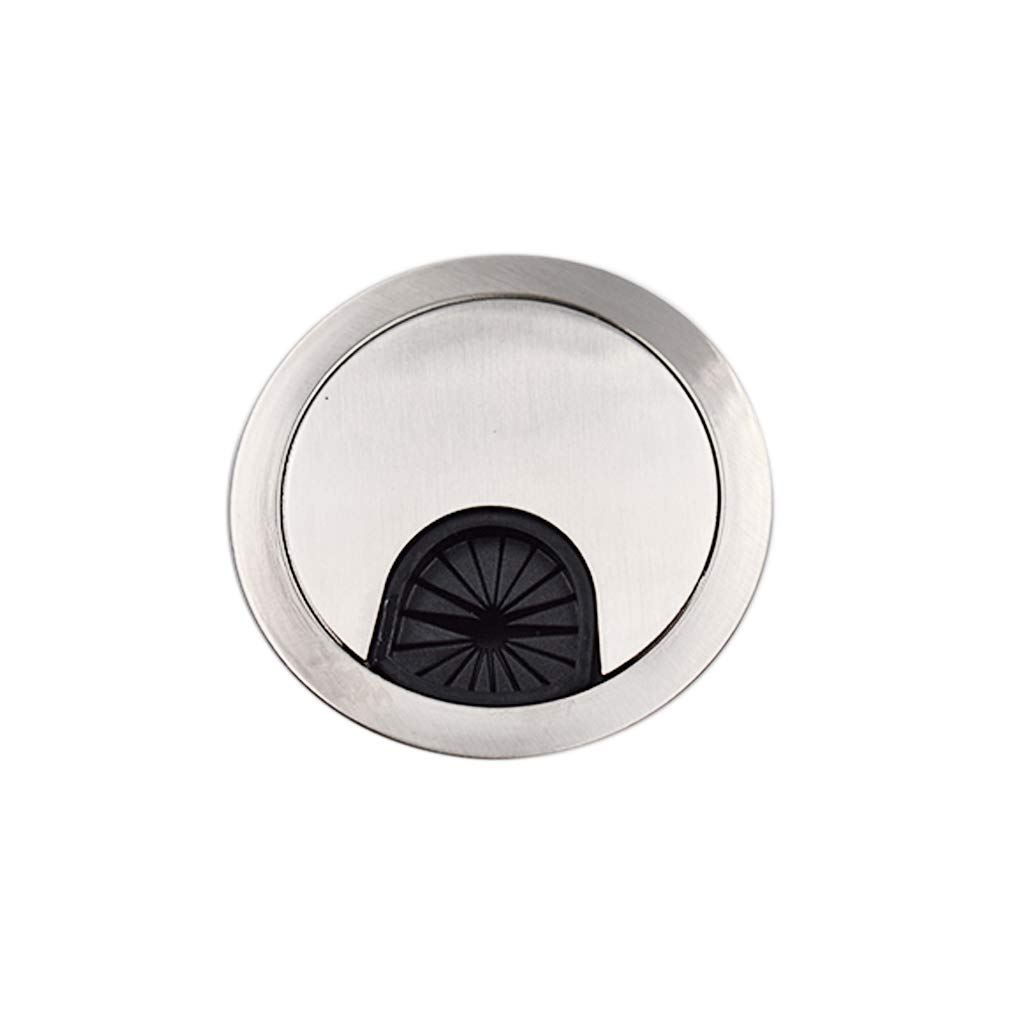 Xeminor 50mm Desk Table Grommet Metal Computer Desk Grommet Cable Management Round Cable Wire Hole Cover Cable Tidies