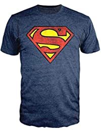 1d30ac6c4235 Superman Logo Navy Heather T-Shirt Officially Licensed